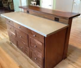custom kitchen island with slab bar top by saw tooth designs llc custommade com