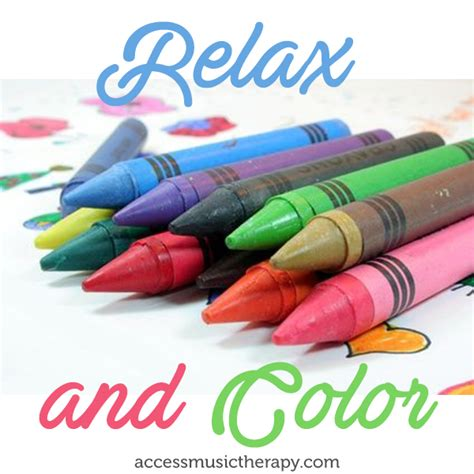 relax and color access music therapy