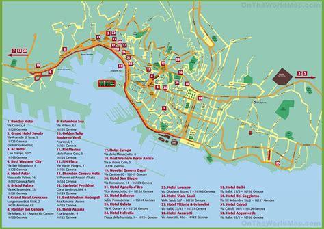 genoa world map genoa hotel map