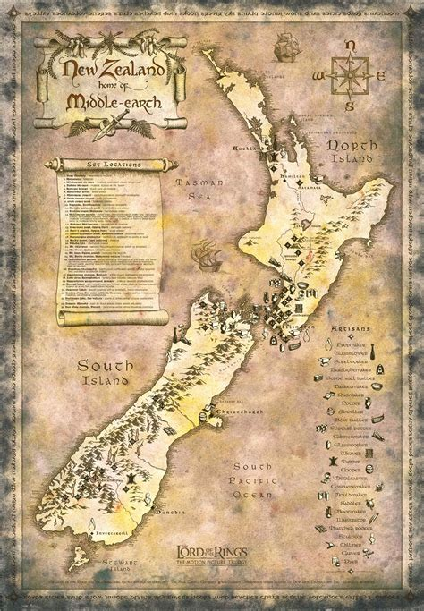 lord of the rings middle earth map middle earth or should i say new zealand danzibo