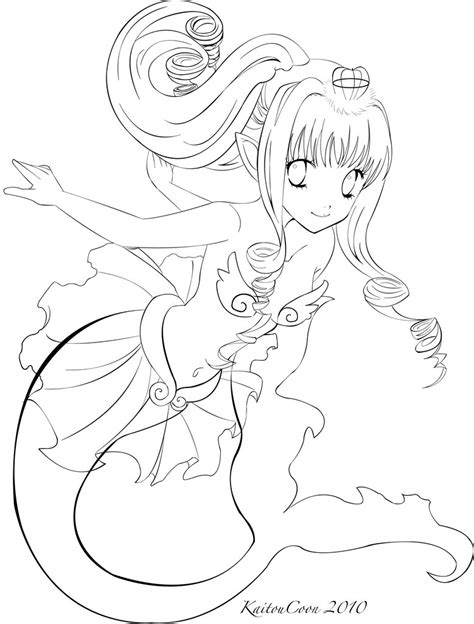 coloring pages anime mermaids mermaid trade lineart by kaitoucoon on deviantart