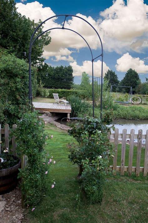 Garden Arch Metal Black Black Metal Garden Arch Oxford By Garden Selections