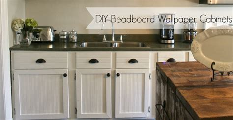wallpaper on kitchen cabinets diy beadboard wallpaper cabinets nest of bliss