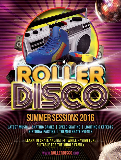 template flyer disco roller disco flyer template by designroom1229 graphicriver