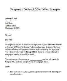 Exle Letter Of Employment Contract Contract Offer Letter Templates 9 Free Word Pdf Format Free Premium Templates