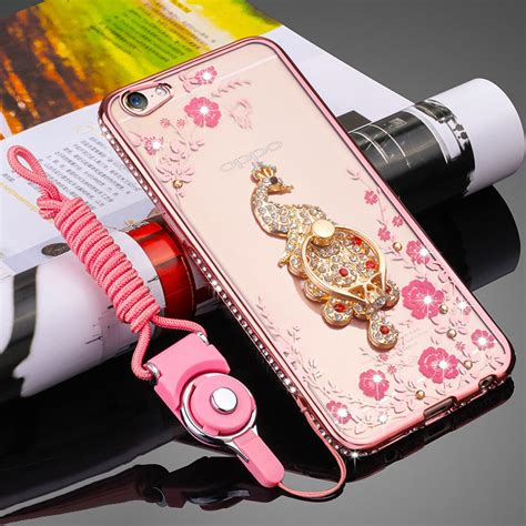 Softcell Swarosky Ring Stand Oppo A33 luxury rhinestone cover for oppo a31 a33 a37 a51 a53