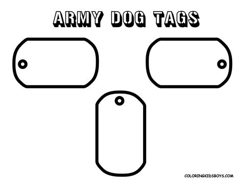 army dog tags colouring for kids craft ideas pinterest