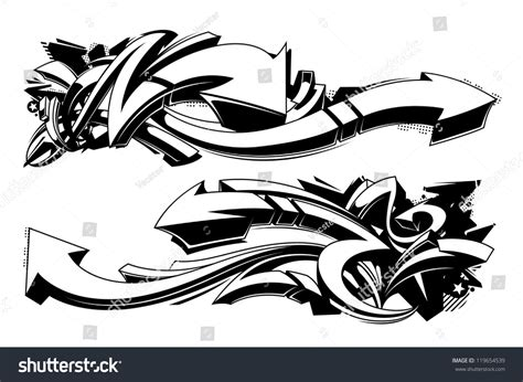 Sprei Wave Hitam Putih black and white graffiti backgrounds horizontal graffiti