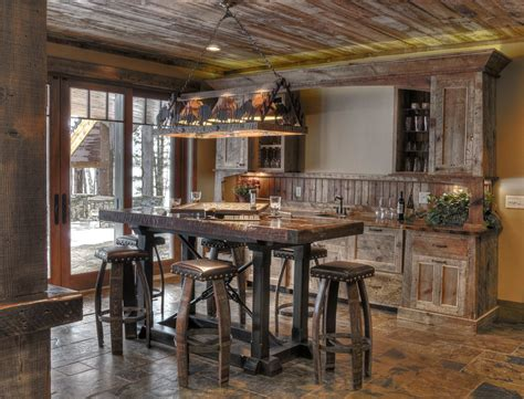 rustic bar rustic bar ideas home bar rustic with bar log railing