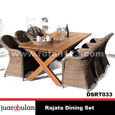 Meja Makan Anyaman harga jual rajata dining set meja makan rotan sintetis