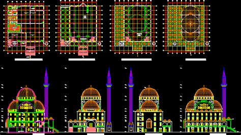 mosque dwg plan  autocad designs cad