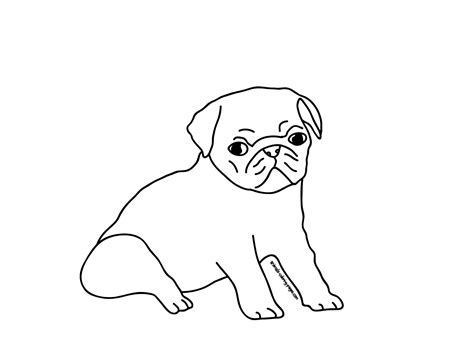 coloring pages of pugs dogs printable pug coloring pages coloring home