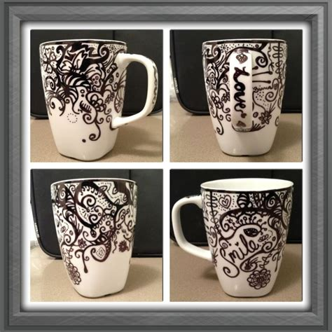 design a mug with sharpie sharpie mug diy gifts pinterest baking sheet
