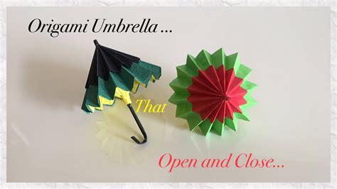 origami umbrella that open and diy paper