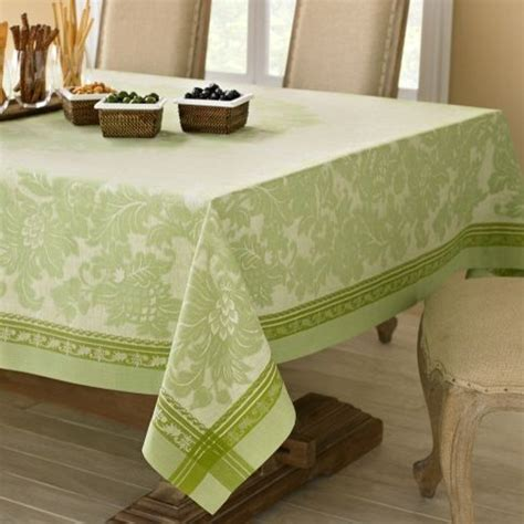 kitchen table linens antique floral jacquard tablecloth traditional