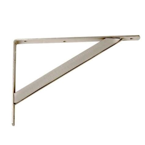 Polished Nickel Shelf Brackets by 11 1 4 In X 7 75 In Heavy Duty Brushed Nickel Closet