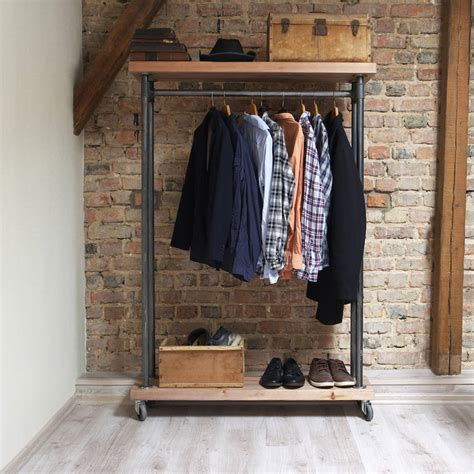 industrial style industrial style reclaimed wood clothes rail by cosywood