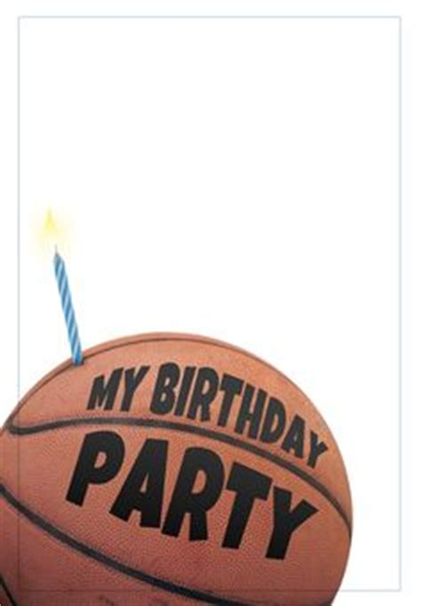 printable birthday cards basketball diy printable invitation card basketball birthday party