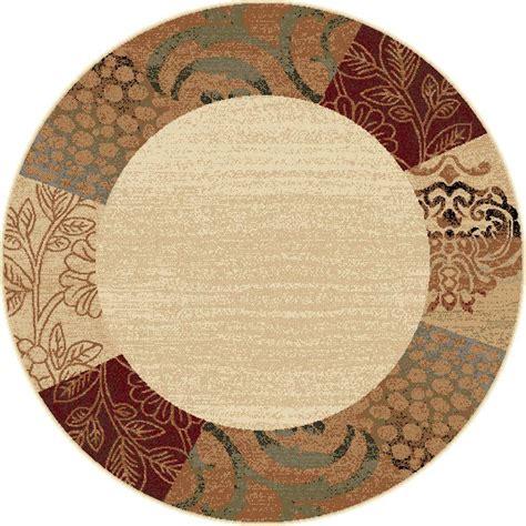 5 foot rugs tayse rugs elegance beige 5 ft 3 in x 5 ft 3 in indoor area rug 5202 ivory 6