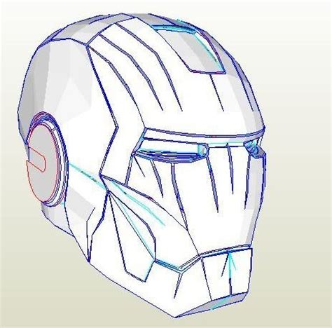 Origami Iron Helmet - 18 best images about pepakura on iron
