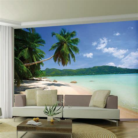 wallpaper for walls decor uk desert island beach wallpaper wall mural 2 32m x 3 15m