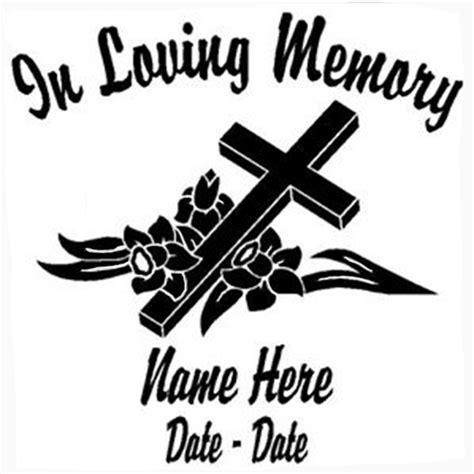 Auto Decals In Memory Of by In Loving Memory Die Cut Vinyl Decal Pv360