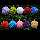 "9"" Kissing Ball Rose Flowers Pomander Pew Bow Wedding"