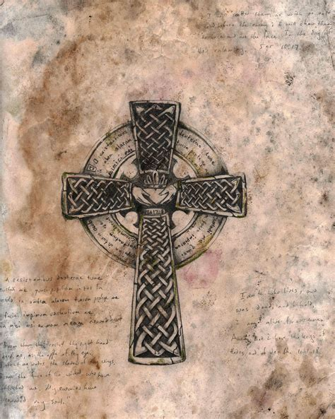 cross tattoo with latin celtic cross tattoo with latin vernacular quote by