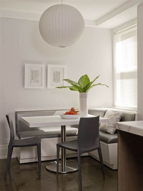 breakfast nook  built  banquette seating cococozy
