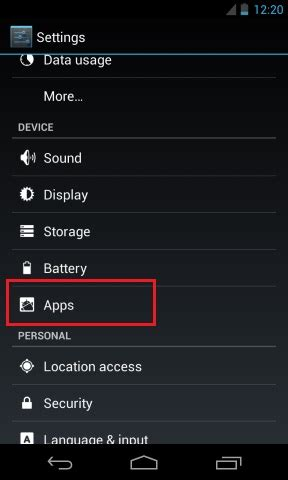 android default apps how to disable default apps on android