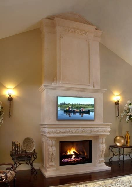 custom stone fireplace tv wall s d m custom finish pin by mantels direct beautiful fireplace mantels on