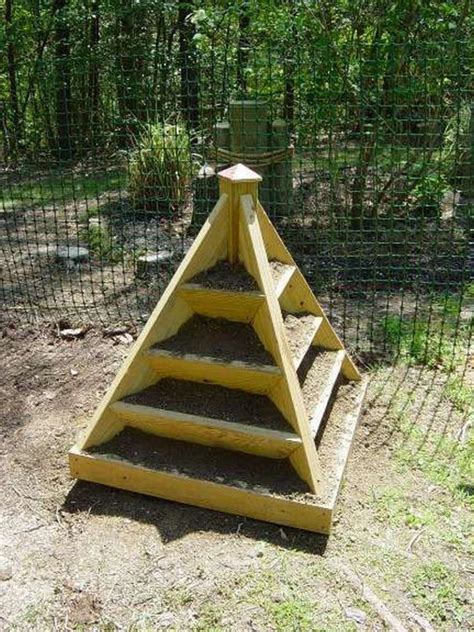 Wooden Pyramid Planter by How To Make A Strawberry Pyramid Planter The Owner