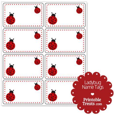 printable insect name tags ladybug name tags printable treats com
