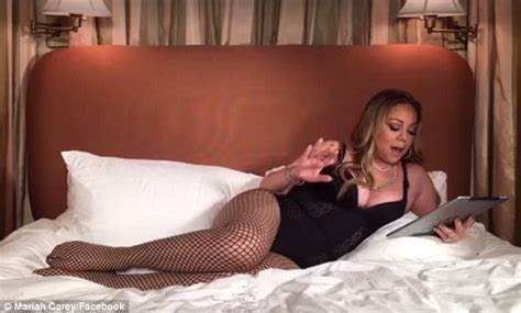 hot video in bedroom mariah carey streams video in lingerie that goes viral daily mail online