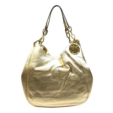 Michael Kors Fulton Large Shoulder Bag Pale Gold michael kors fulton large leather shoulder tote pale gold