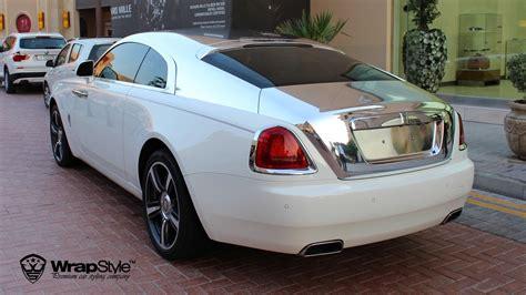 roll royce chrome wrapstyle premium car wrap car dubai chrome