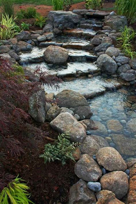 Rock Waterfalls For Gardens 63 Relaxing Garden And Backyard Waterfalls Digsdigs