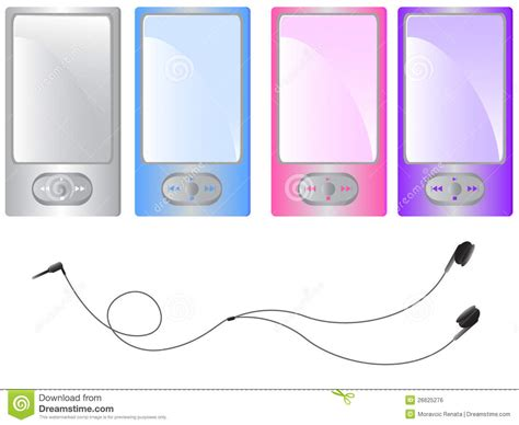 color mp3 mp3 player royalty free stock image image 26625276