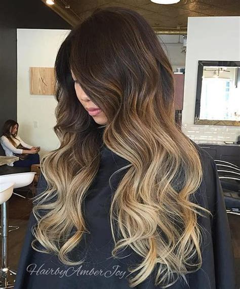 turning dark brown hair to blonde blonde ombre hair to charge your look with radiance