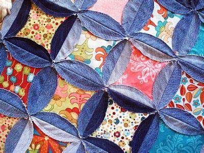 Mock Cathedral Window Quilt Pattern by Upcycle Into A Quilt Duvet Cover Cathedral