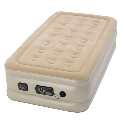 Air Bed by Serta Raised Airbed Mattress With Built In Neverflat