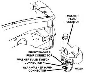 service manual removing windshield washer pump on a 1998 dodge durango service manual