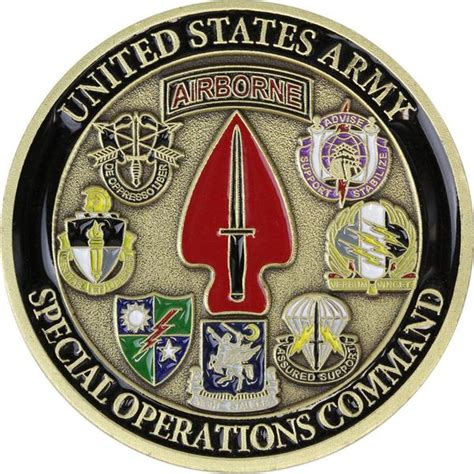 U S Army Special Operations Command Coin Usamm