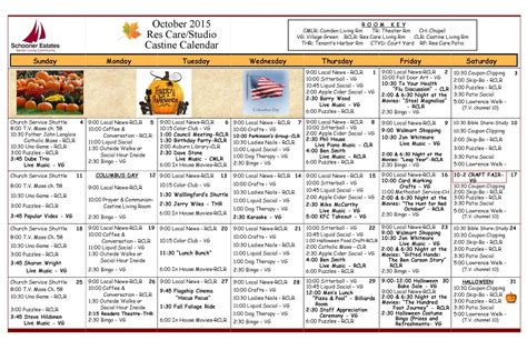 assisted living activity calendar template 2015 activity calendar october calendar template 2016