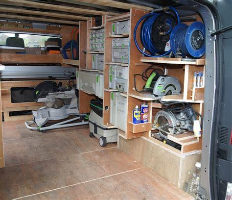 work van layout ideas racking pinteres