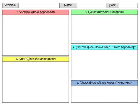 free lean problem solving a3 template for kids lean