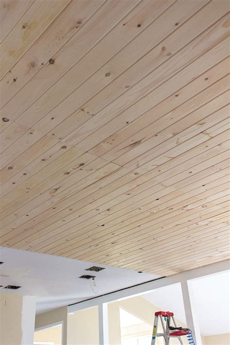 How Do You Install Wood Planks On A Ceiling