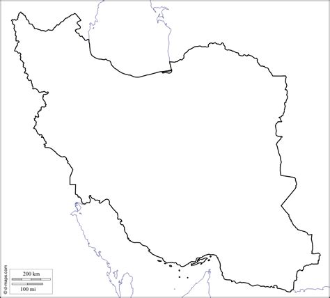 Iran Map Outline by Blank Iran Map Map Pictures
