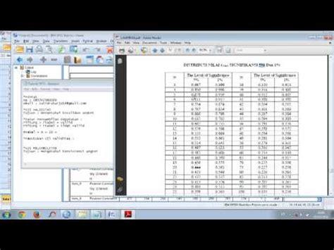 tutorial uji validitas dan reliabilitas spss video tutorial uji validitas dan reliabilitas spss lengkap