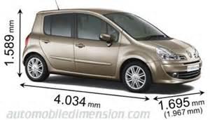 Renault Grand Modus Dimensions Dimensions Des Voitures Renault Longueur X Largeur X Hauteur